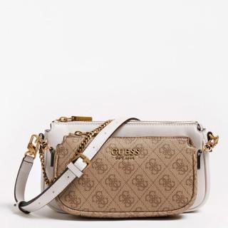 Guess Mika 4G Brown Shoulder Bag