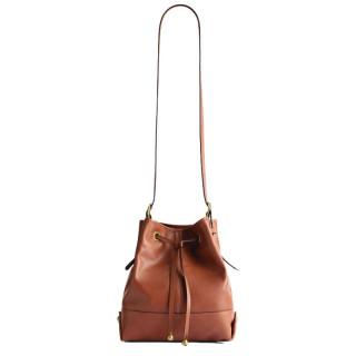 Gérard Darel Mini So Bucket Bag Porté Croisé Cognac