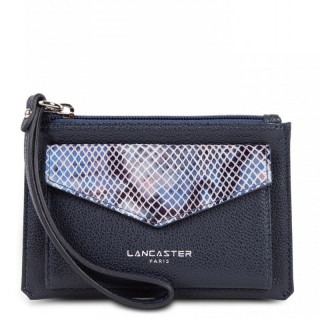 Lancaster Maya Pochette Organisée 117-04 Bleu Foncé Python