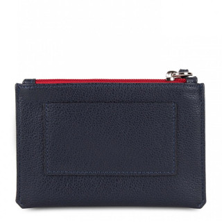 Lancaster Maya Organized Pocket 117-04 Dark Blue Ecru and Red