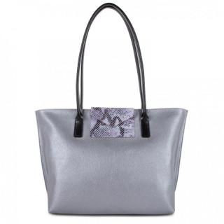 Lancaster Maya Bag Cabas 517-29 Silver Python