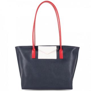 Lancaster Maya Bag Cabas 517-29 Dark Blue Ecru Red