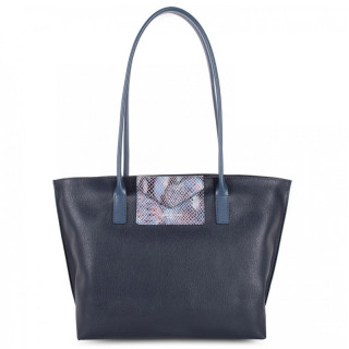 Lancaster Maya Bag Cabas 517-29 Dark Blue Python