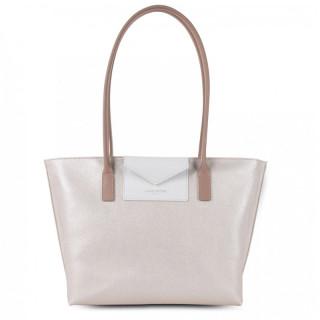 Lancaster Maya Bag Cabas 517-29 Pearl White Nude