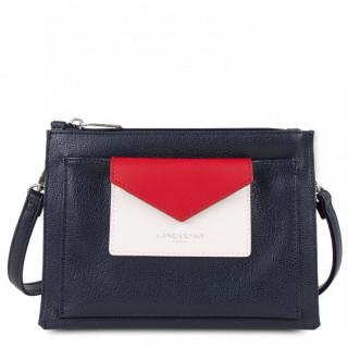 Lancaster Maya Crossbody Bag 517-44 Dark Blue Ecru Red