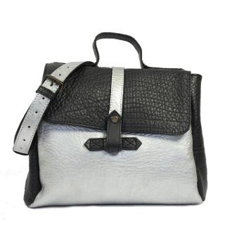 Paul Marius LeCorneille Crossbody Bag Silver Black
