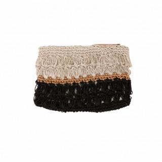 Lollipops Hadele Black Crochet Wallet