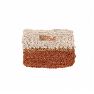 Lollipops Hadele Wallet In Orange-Golden Crochet