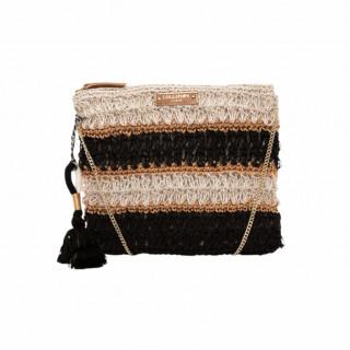 Lollipops Hadele Black Crochet Pocket Bag