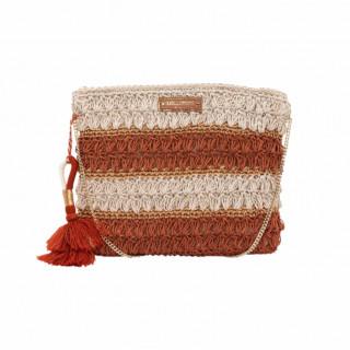 Lollipops Hadele Orange-Golden Crochet Pocket Bag