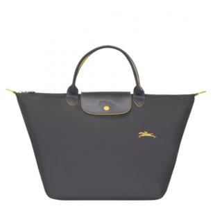 Longchamp The Pliage Club Bag A Main M Grey Rifle