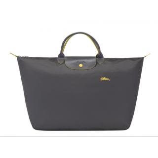 Longchamp The Pliage Club Travel Bag L Grey Rifle