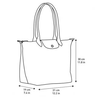 Longchamp The Pliage Club Shopping L Grey Rifle