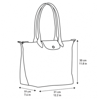 Longchamp The Pliage Club Shopping L Navy
