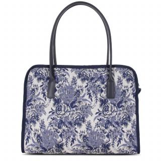 Lancaster Actual Handbag Vintage Flower 519-90 Blue