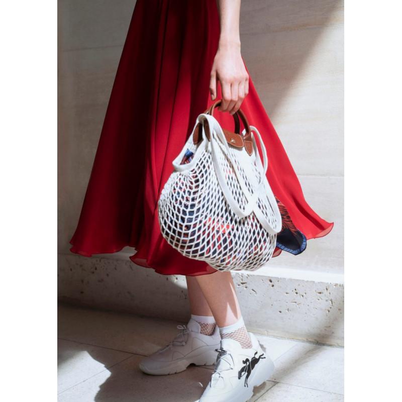 Longchamp Le Pliage Filet Ecru