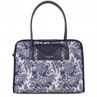 Actual Lancaster Grand Bag Cabas Vintage Flower 519-91 Blue
