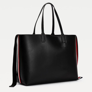 Tommy Hilfiger Iconic Cabas Bag with Embroidered Black Bds Signature