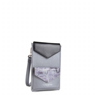 Lancaster Maya Silver smartphone case and Python