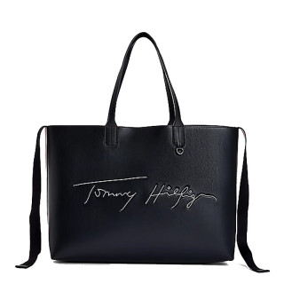 Tommy Hilfiger Iconic Cabas Bag with Desert Sky Embroidered Signature