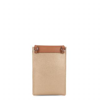 Lancaster Maya Smartphone Case Gold Natural Mat and Camel