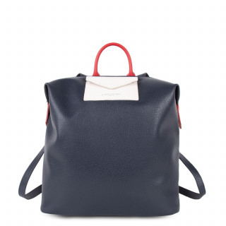 Lancaster Maya Back Bag 517-48 Dark Blue Ecru and Red