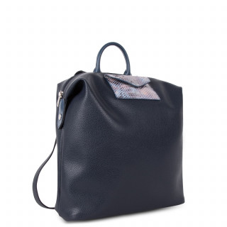 Lancaster Maya Back Bag 517-48 Dark Blue and Python