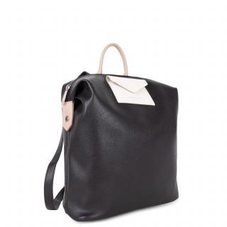 Lancaster Maya Back Bag 517-48 Black Pink and White