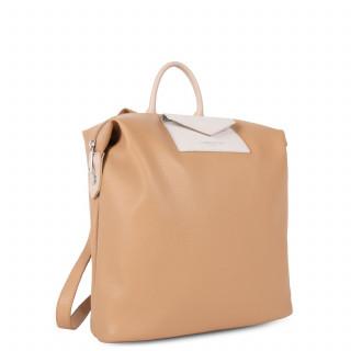 Lancaster Maya Back Bag 517-48 Natural Mat Gold and Camel