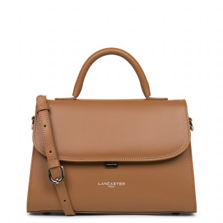 Lancaster Smooth Even Mini Leather Handbag 437-17 Hazelnut