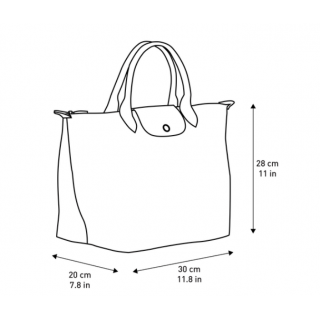 Longchamp Le Pliage Original Sac A Main M Gris