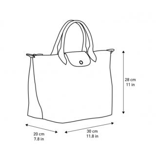 Longchamp The Original Fold Bag A Main M Grey