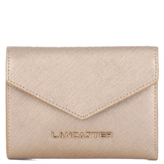 Lancaster Saffiano Signature Wallet Back to Back 127-02 Champagne