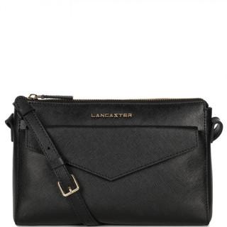 Lancaster Saffiano Signature Crossbody Bag Leather 527-18 Black
