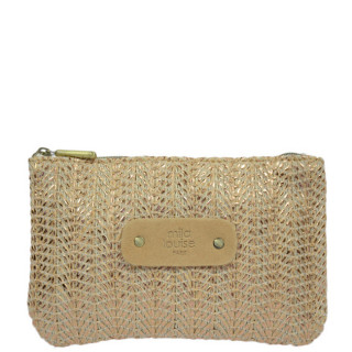 Mila Louise Poch Wheat 3 PM Nude Bag and Cosmetic Kit