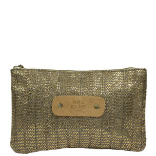 Mila Louise Poch Wheat 3 PM Grey Bag and Cosmetic Kit