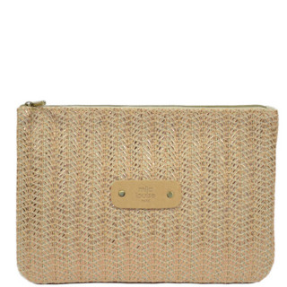 Mila Louise Poch Wheat 3 GM Nude Bag And Cosmetic Kit