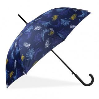 Isotoner Umbrella Woman Cane X-Tra Sec-Ultra Automatic Skinning Palm Leaf