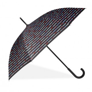 Isotoner Umbrella Women Cane X-Tra Sec-Ultra Automatic Depoerlant Mikado Stripe