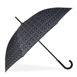 Isotoner Umbrella Women Cane X-Tra Sec-Ultra Automatic Skinning Pop Seed