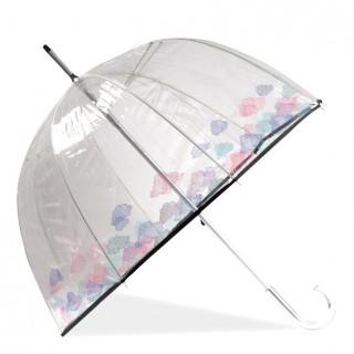 Isotoner Umbrella Woman Bell Transparent Manual PVC / Cloud