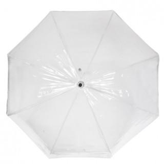 Isotoner Parapluie Femme Cloche Transparent Manuel PVC / Nuage