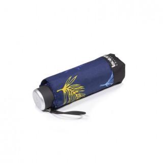 Isotoner Mini Umbrella Women X-TRA Dry Manuel Palm Leaf