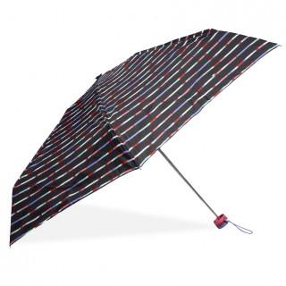 Isotoner Mini Umbrella Women Fold X-TRA Sec Manuel Mikado Stripe