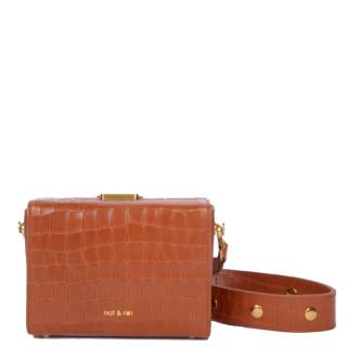 Nat & Nin Daisy Petit Bag Box Croco Amber