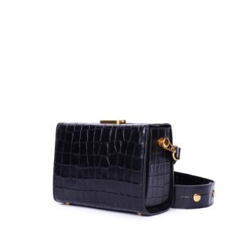 Nat & Nin Daisy Petit Bag Box Croco Black