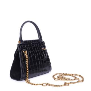 Nat & Nin Dany mini Bag A Main Black Croco