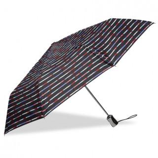 Isotoner Parapluie Femme Pliant X-TRA Solide Automatique Rayure Mikado