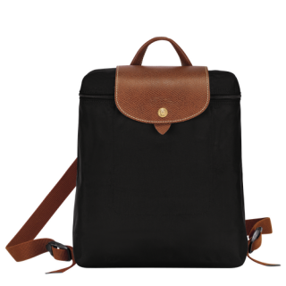 Longchamp The Original Fold Black Back Bag