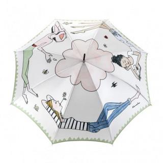 Piganiol Collaboration Parapluie Femme Canne Manuel PG41651 Kanako